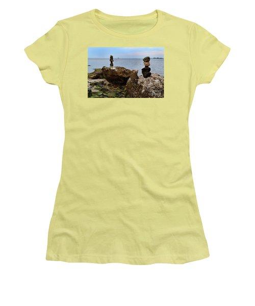 Southport Rock Art Women's T-Shirt (Athletic Fit)