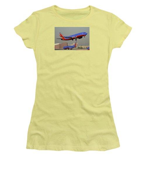 Southwest Boeing 737-3h4 N392sw Phoenix Sky Harbor December 2 2015 Women's T-Shirt (Athletic Fit)