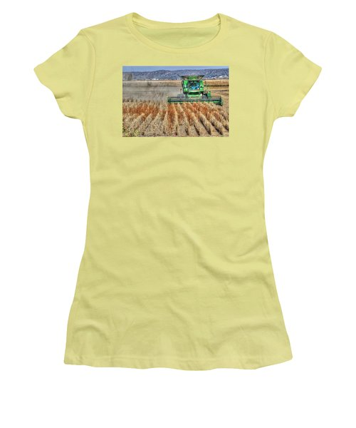 Soybean Harvest Fremont County Iowa Women's T-Shirt (Athletic Fit)