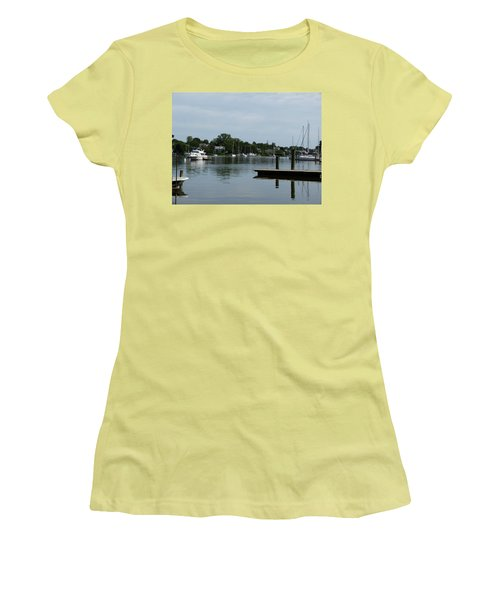 Spa Creek From The Park  Women's T-Shirt (Junior Cut) by Donald C Morgan
