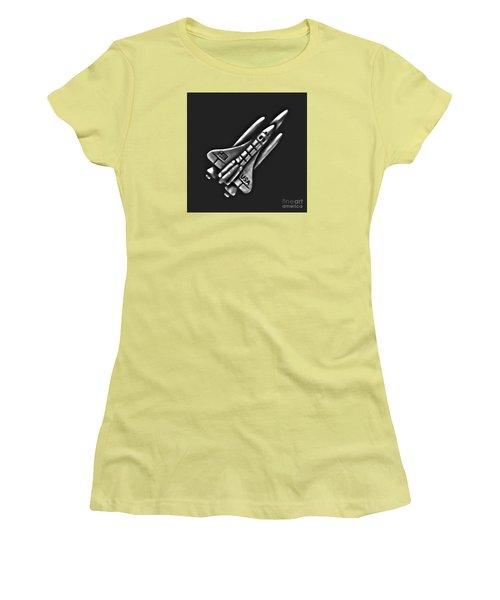 Space Shuttle Women's T-Shirt (Junior Cut) by Walt Foegelle