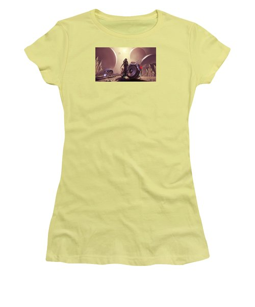 Women's T-Shirt (Junior Cut) featuring the photograph Space The Final Frontier by Lawrence Christopher