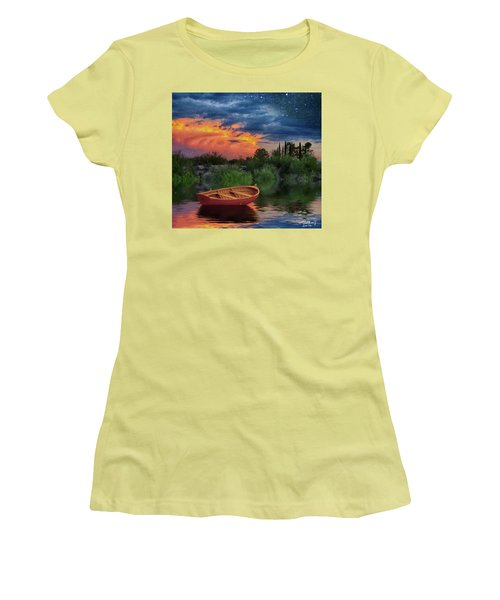 Sparkle Pond Women's T-Shirt (Athletic Fit)