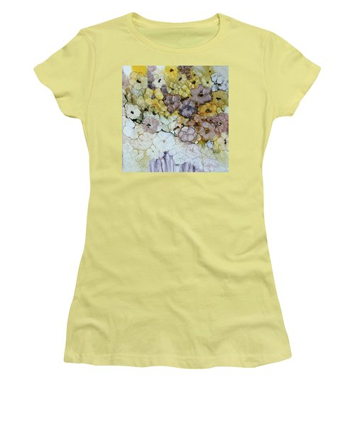 Women's T-Shirt (Junior Cut) featuring the painting Spash Of Sunshine by Joanne Smoley