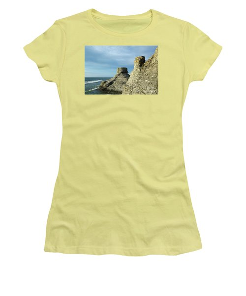 Women's T-Shirt (Athletic Fit) featuring the photograph Spectacular Eroded Cliffs  by Kennerth and Birgitta Kullman