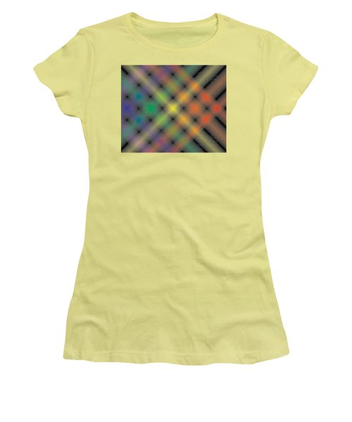 Spectral Shimmer Weave Women's T-Shirt (Junior Cut) by Kevin McLaughlin
