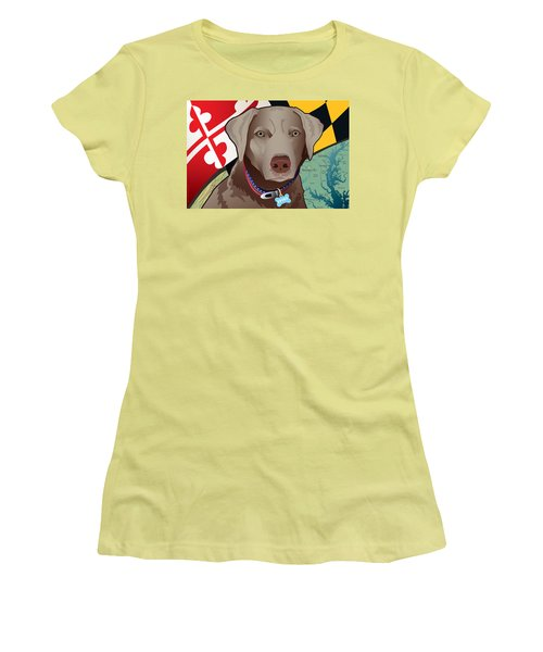 Spike, The Maryland Silver Lab Women's T-Shirt (Athletic Fit)