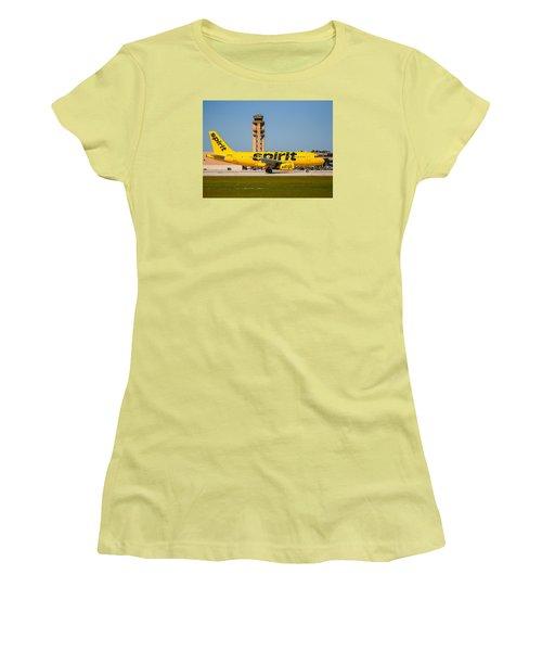 Spirit Airline Women's T-Shirt (Athletic Fit)