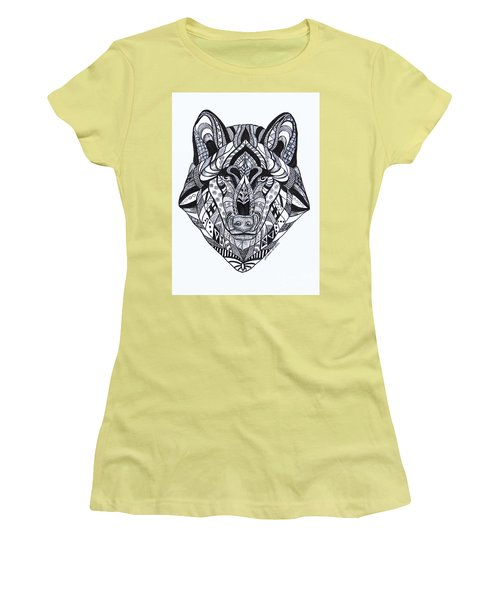 Spirit Wolf Women's T-Shirt (Athletic Fit)