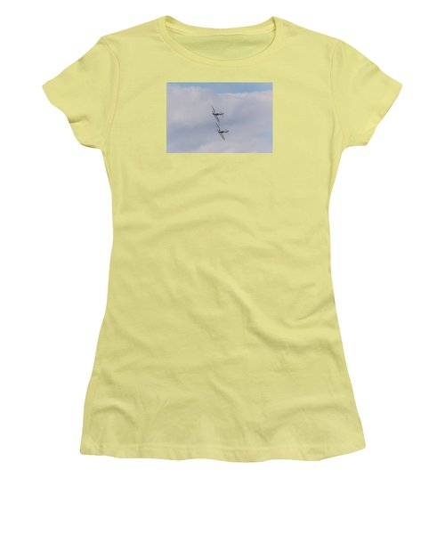 Spitfire Formation Pair Women's T-Shirt (Athletic Fit)