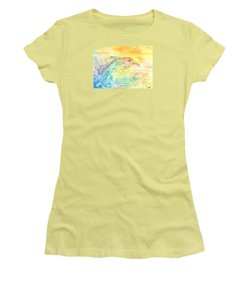 Women's T-Shirt (Junior Cut) featuring the painting Splash by Denise Tomasura