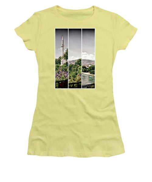 Split Landscape Women's T-Shirt (Junior Cut) by Ana Mireles