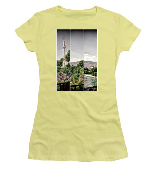 Split Landscape Women's T-Shirt (Athletic Fit)