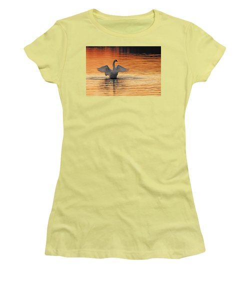 Spreading Her Wings In Gold Women's T-Shirt (Athletic Fit)