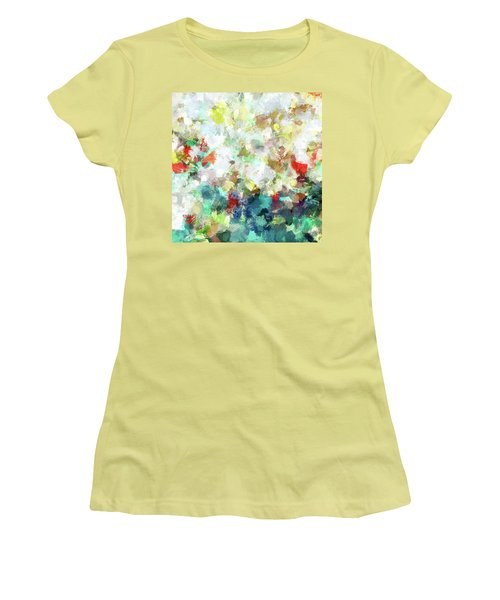 Spring Abstract Art / Vivid Colors Women's T-Shirt (Junior Cut) by Ayse Deniz