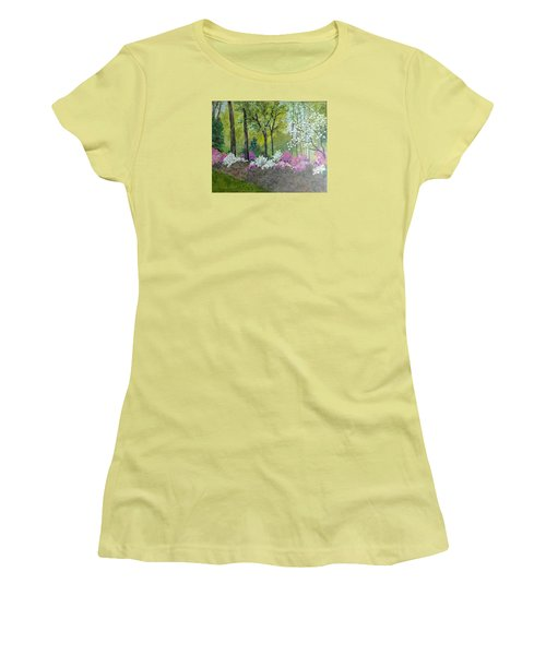 Spring Along Tega Cay Drive Women's T-Shirt (Athletic Fit)