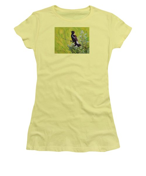 Spring Bobolink Women's T-Shirt (Athletic Fit)