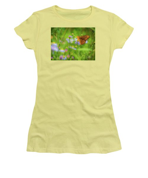 Spring Butterfly Women's T-Shirt (Athletic Fit)
