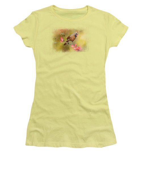 Spring Cardinal 1 Women's T-Shirt (Junior Cut) by Jai Johnson