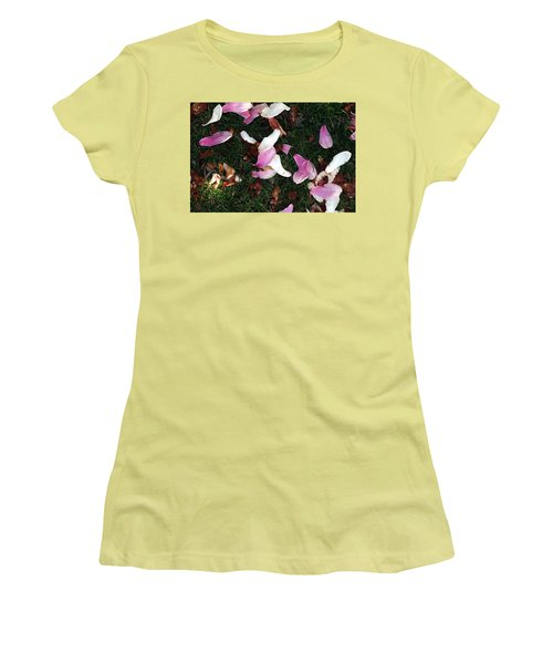 Spring Carpet Women's T-Shirt (Junior Cut) by Dorin Adrian Berbier