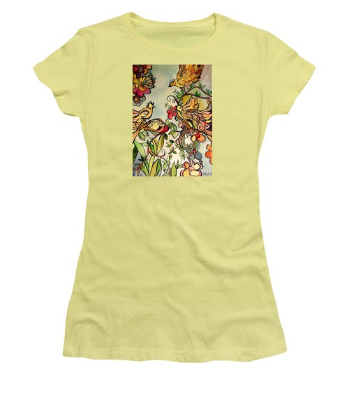 Spring Day Women's T-Shirt (Junior Cut) by Claudia Cole Meek
