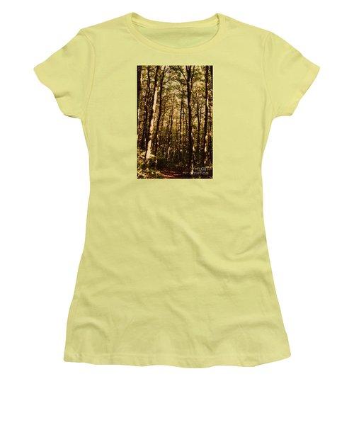 Women's T-Shirt (Junior Cut) featuring the photograph Spring Forest by Jean Bernard Roussilhe
