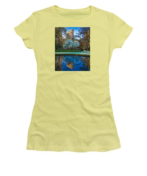 Spring In Madison Square Park Women's T-Shirt (Junior Cut) by Chris Lord