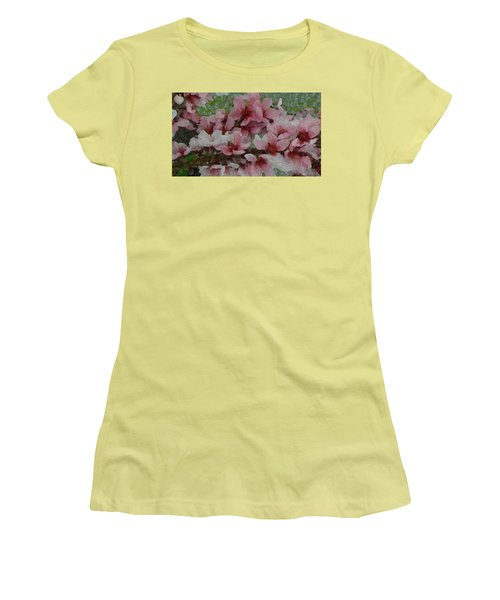 Spring Peach Blossoms Women's T-Shirt (Junior Cut) by Donna G Smith
