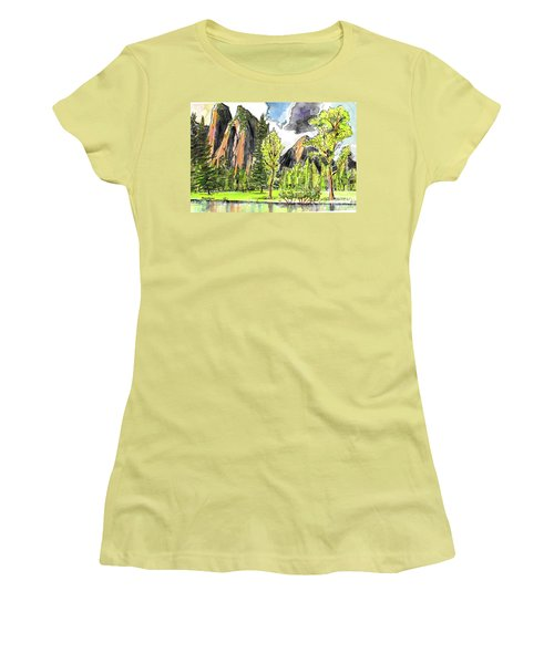 Spring In Yosemite Women's T-Shirt (Athletic Fit)