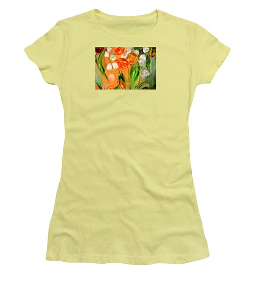 Spring Mood Women's T-Shirt (Junior Cut) by Evelina Popilian