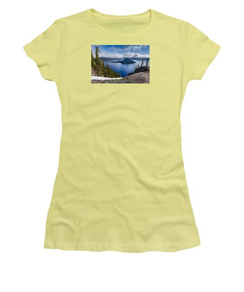 Spring Morning At Discovery Point Women's T-Shirt (Junior Cut) by Greg Nyquist