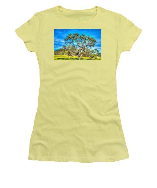 Spring Oak Moon Rise Women's T-Shirt (Athletic Fit)