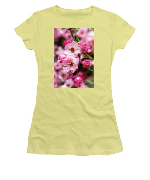 Spring Pink Women's T-Shirt (Junior Cut) by Teri Virbickis