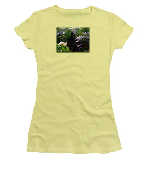 Spring Rain Women's T-Shirt (Junior Cut) by Marika Evanson