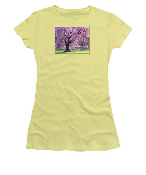 Spring Sensation Women's T-Shirt (Junior Cut) by Mikki Cucuzzo