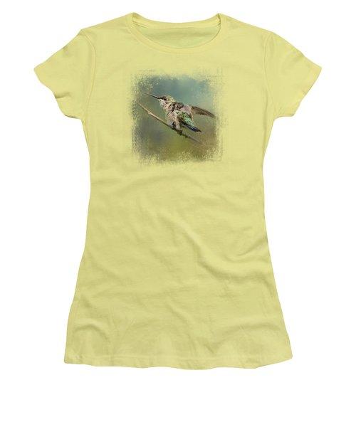 Spring Storm Hummingbird Women's T-Shirt (Athletic Fit)