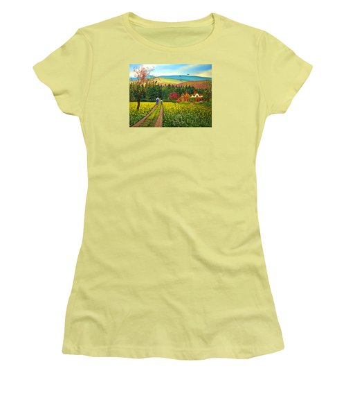 Spring Time In The Mountains Women's T-Shirt (Junior Cut) by Nina Bradica