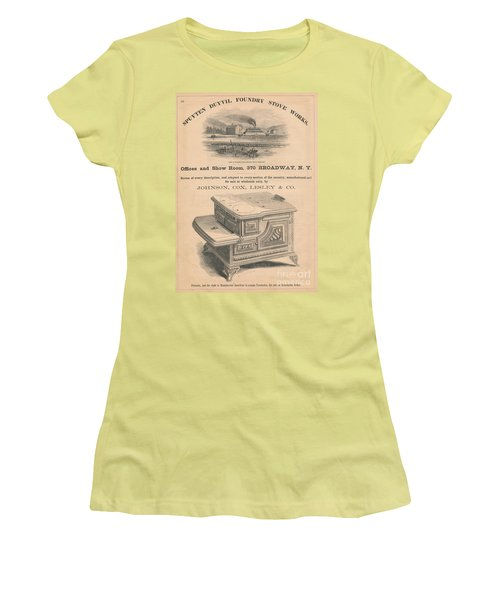 Women's T-Shirt (Junior Cut) featuring the photograph Spuyten Duyvil Stoveworks  by Cole Thompson