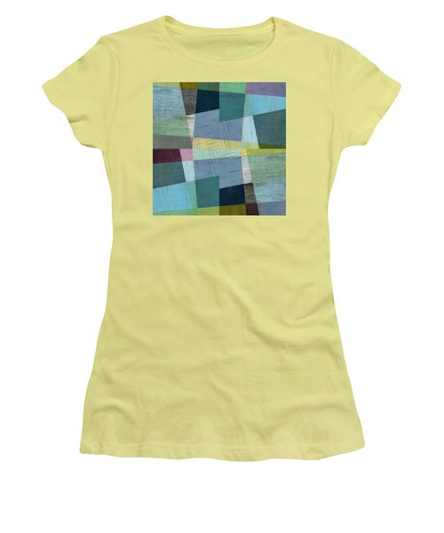 Women's T-Shirt (Athletic Fit) featuring the digital art Squares And Shims by Michelle Calkins