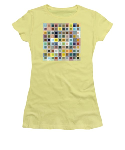 Women's T-Shirt (Junior Cut) featuring the digital art Squares In Squares Three by Michelle Calkins
