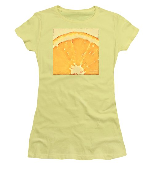 Women's T-Shirt (Junior Cut) featuring the mixed media Squeeze Me 2 by Anthony Fishburne