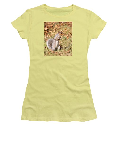 Women's T-Shirt (Junior Cut) featuring the photograph Squirrely Me by Debbie Stahre
