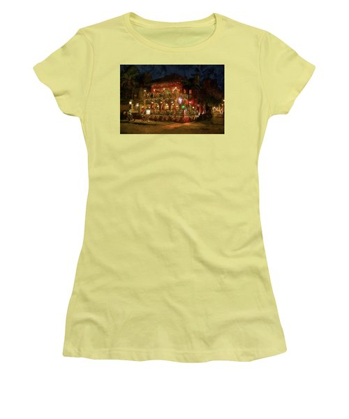 Women's T-Shirt (Junior Cut) featuring the photograph  St. Augustine Meehan's Pub by Louis Ferreira