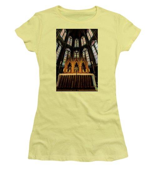 Women's T-Shirt (Junior Cut) featuring the photograph St. Elizabeth Church by David Morefield