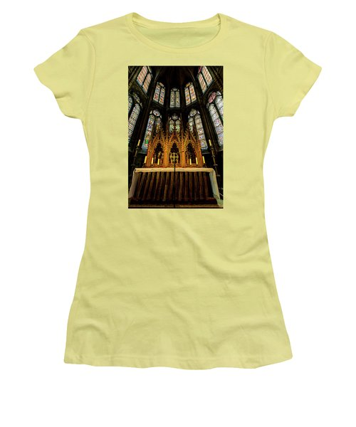 Women's T-Shirt (Athletic Fit) featuring the photograph St. Elizabeth Church by David Morefield