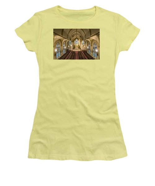 St. Francis Xavier Cathedral Women's T-Shirt (Junior Cut) by Andy Crawford