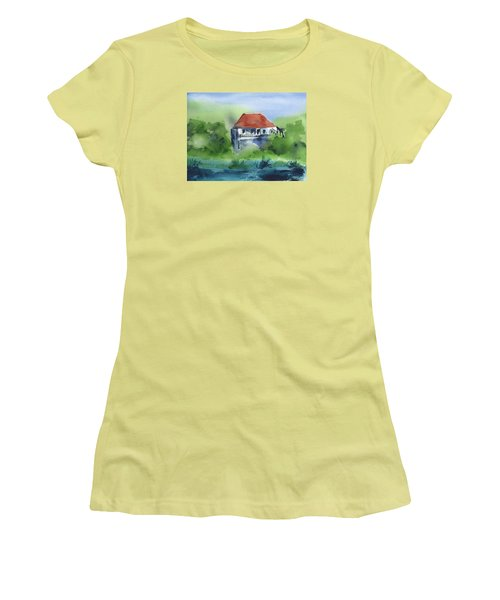 Women's T-Shirt (Junior Cut) featuring the painting St Johns Rental by Frank Bright