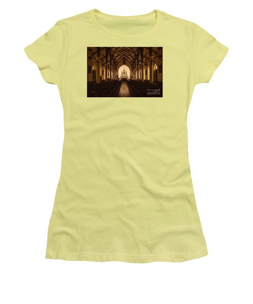 St. Louis Catholic Church Of Castroville Texas Women's T-Shirt (Athletic Fit)