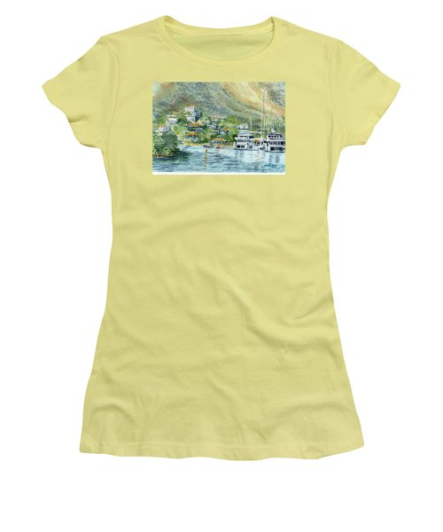 St. Maarten Cove Women's T-Shirt (Athletic Fit)