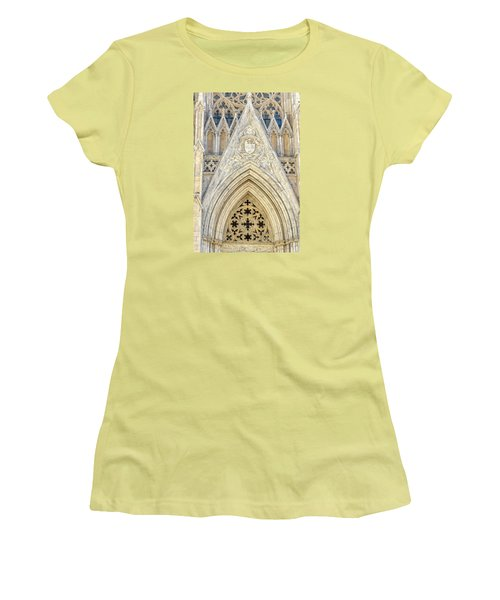 Women's T-Shirt (Junior Cut) featuring the photograph St. Patrick's Cathedral by Sabine Edrissi